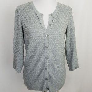 Merona size Large Gray Cardigan Sweater